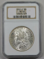 1902-O MORGAN SILVER DOLLAR NGC MINT STATE 63