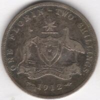 1912 AUSTRALIA GEORGE V SILVER FLORIN | WORLD COINS | PENNIES2POUNDS