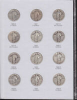 STANDING LIBERTY QUARTER COLLECTION F