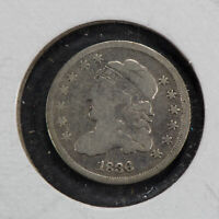 1836 H10C CAPPED BUST HALF DIME LOTN399