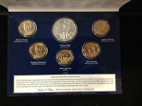 2015 ANNUAL UNCIRCULATED DOLLAR SET WITH AMERICAN SILVER EAG