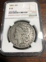 1893 P $1 MORGAN SILVER DOLLAR US COIN CIRCULATED IN FINE CONDITION EYE APPEAL