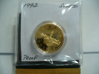 1992  CANADA 1 $  ONE  DOLLAR COIN  LOONIE     92  PROOF  COMMEMORATIVE