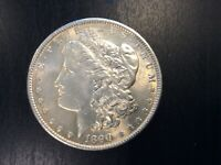 1890 MORGAN SILVER DOLLAR 90 US COIN AU