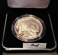 2001 PROOF UNITED STATES MINT BUFFALO SILVER DOLLAR WITH US