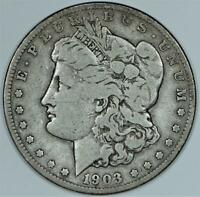 1903-S MORGAN DOLLAR; VG-F