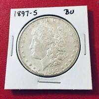 1897-S MORGAN SILVER DOLLAR HIGH GRADE CHOICE BU MS BETTER DATE