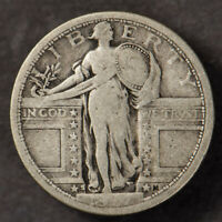 1917-S 25C STANDING LIBERTY QUARTER,  VG COIN TYPE-1 LOTN680