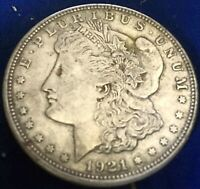 1921 D MORGAN SILVER DOLLAR  FINE ESTATE FIND LOT 98