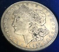 1921 D MORGAN SILVER DOLLAR EXTRA FINE ESTATE FIND LOT 113