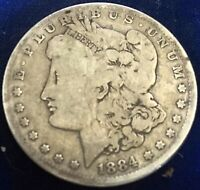 1884 P MORGAN SILVER DOLLAR GOOD ESTATE FIND LOT 90