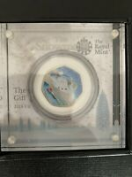 THE SNOWMAN SILVER PROOF 50P ROYAL MINT