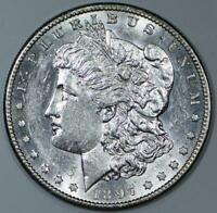 1897-S MORGAN DOLLAR; FLASHY CHOICE AU-BU