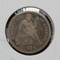 1889 10C SEATED LIBERTY DIME, FINE DETAILS LOTQ279