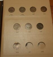 8 PIECE COLLECTION SET OF TWO CENT PIECE U.S. COINS IN DANSCO ALBUM 1864-1870