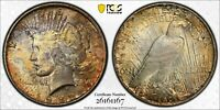 1922 PEACE DOLLAR $1 PCGS MINT STATE 63 - COLORFUL TONING