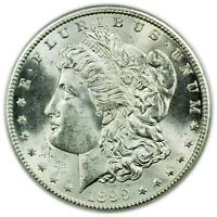 1899-S MORGAN DOLLAR, PCGS MINT STATE 62, TOUGH DATE,  SILVER COIN [4232.33]