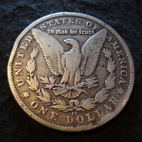 1882-CC MORGAN SILVER DOLLAR - SOLID VG DETAILS FROM THE CARSON CITY MINT