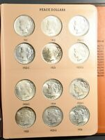 1921 1935 PDS PEACE SILVER DOLLARS COMPLETE 24 COIN SET IN D