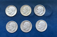 CLEANED LOT OF ROOSEVELT DIMES 1949 P D S & 1950 P D S