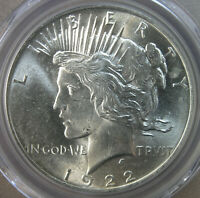 $1 1922 PEACE SILVER DOLLAR PCGS MINT STATE 63  AVENUECOIN