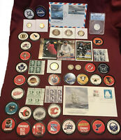 JUNK DRAWER LOT PR 70 ANACS SILVER 2010 S QTR CARDS STAMPS COVER POGS COINS
