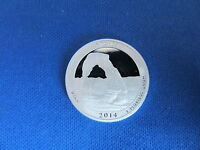 2014 S SILVER QUARTER ARCHES UTAH DEEP CAMEO MIRROR PROOF UP