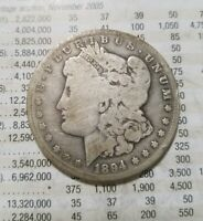 1894-S KEY DATE MORGAN SILVER DOLLAR LOW MINTAGE SEE PICTURES