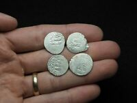 LOT OF 4 SILVER DIRHAM MEDIEVAL ISLAMIC COINS