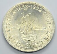 SOUTH AFRICA 5 SHILLINGS 1952 GEORGE LARGE SILVER COIN 28G