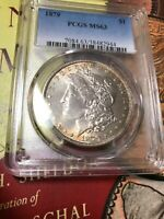 1879 MORGAN DOLLAR PCGS MINT STATE 63