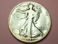 1921 D LOW MINT 208K KEY COIN IN SRS LIBERTY WALKING HALF DO