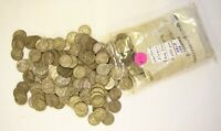BAG OF 250 MIXED DATE WARTIME SILVER NICKELS  BAG 1
