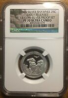 2016 S SILVER SHAWNEE EARLY RELEASES NCG PF70 QUARTER FROM 1
