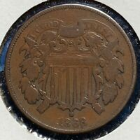 1868 2C TWO CENT PIECE 52241