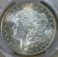 $1 1890-S MORGAN SILVER DOLLAR PCGS MINT STATE 62 BEAUTY  AVENUECOIN