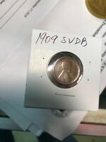 1909 S VDB LINCOLN CENT KEY DATE