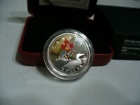 2004 CANADA  LUCKY LOONIE  COLOR   STERLING   SILVER   COIN  1$  ONE DOLLAR