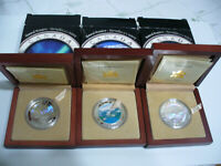 LOT OF 3 2003 04  CANADA  20$ FINE SILVER COINS  NATURAL WONDERS  .999  3 COINS