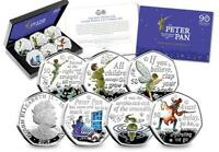 2019 THE OFFICIAL PETER PAN SILVER PROOF 50P SET