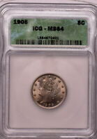 1905 5C LIBERTY NICKEL ICG MINT STATE 64