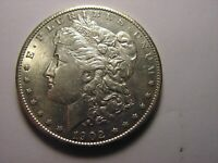 1902 - S MORGAN SILVER DOLLAR, LOOKS TO BE IN AU CONDITION B