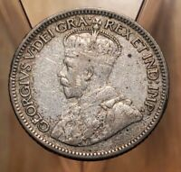 CANADA 1935 KING GEORGE V SILVER 10 CENT COIN