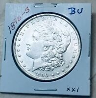 1890-S MORGAN SILVER DOLLAR BU