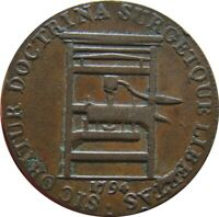 USA GREAT BRITAIN CONDER TOKEN HALF PENNY 1794 MIDDLESER D&H307A FRANKLIN PRESS