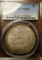 1902-O MORGAN SILVER DOLLAR PCGS MINT STATE 64 MINT STATE 64 PQ UNCIRCULATED COIN -