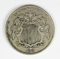1872 SHIELD NICKEL