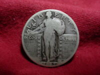 BETTER DATE 1927-D UNITED STATES STANDING LIBERTY SILVER QUARTER DOLLAR 25C COIN