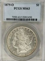 1879-O MORGAN SILVER DOLLAR PCGS GRADED CERTIFIED MINT STATE 63 MINT STATE 63  COIN