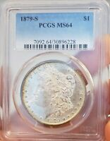 1879 S PCGS MINT STATE 64 FROSTY ALL ORIGINAL WOW  MORGAN SILVER DOLLAR 228